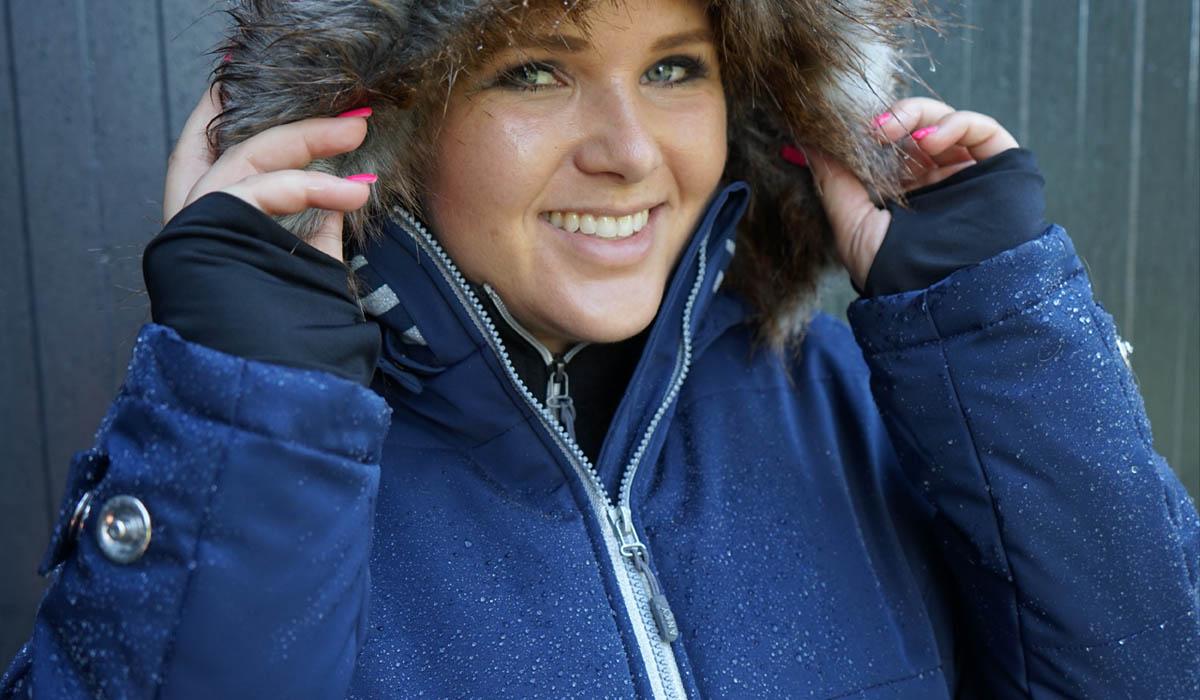 Anky comfort coat close up